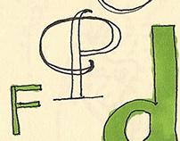 scribbley letters