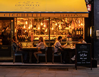 London the West End - The Café 2020 year of Covid