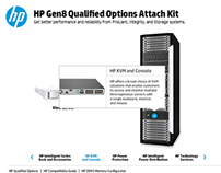 HP Gen8 Qualified Options Attach Kit