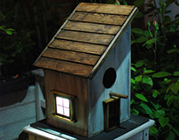 Solar Birdhouse with viewer