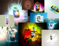 HTC DESIRE Inspirational Graphic designs