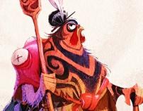 Maori Warrior - Character design
