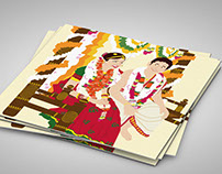 Indian wedding invite: Tamil style