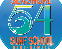 Seashore 54 Surf School Logo mockup