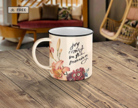 Enamel Mug - Mockup