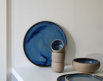 Daniel's blue ceramics made-to-order