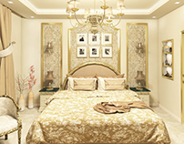 Classic Golden Master Bedroom