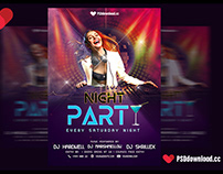 Night Party Flyer Template PSD