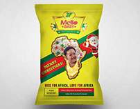 Christmas edition package design for rice for africa