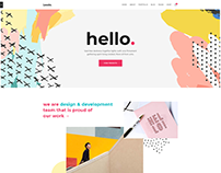 COLORFUL & CREATIVE PORTFOLIO WordPress Website Design