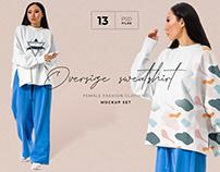 Oversize t-shirt mockup set + Freebie (КОПИЯ)