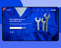 Landing page website Car services app
