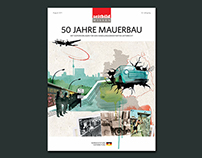 """50 Jahre Mauerbau"": Editorial Design, Illustration"