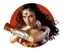 Wonder Woman | Low Poly