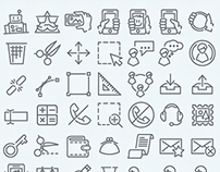 More than 1500 thin line icons