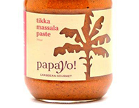 Papayo! Gourmet Sauces Packaging