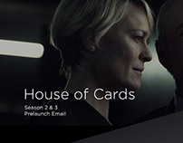 House of Cards Prelaunch: Netflix Email Design