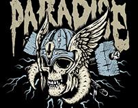 Metal Hammer's Paradise Festival Tshirt Illustration