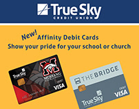 Custom Ad, promoting affinity cards.