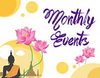 Monthly Events Illustrations