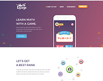MathLounge App Website Design