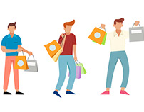Men love Shopping - Illustration