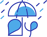 Rain (മഴ) - typography Malayalam
