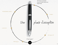 Pilot Capless - Web design