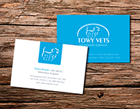 Towi Vets Logo & Business card
