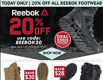 20% Reebok Email Blast