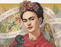 Wise Words on Ribbon: Frida Kahlo, Einstein, Anne Frank