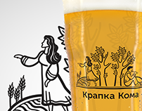 Krapka Comma Brewery identity illustrations