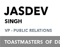 Badge Design for members of Toastmasters Of Delhi