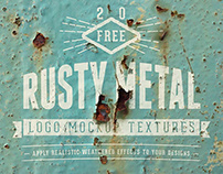 Free* 20 Realistic Rusty Logo Mockup Textures