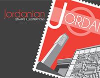 Stamps of Jordan (illustrations)