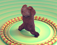 jumping jack with bear theme