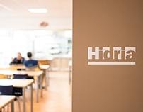 HIDRIA | interior design - eating room marking
