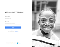 Login Page for SaaS