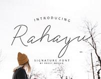 FREE | Rahayu Signature Font