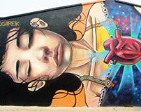 Mural Corazon del mar