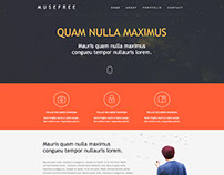 Adobe muse themes widgets on behance adobe muse free theme pronofoot35fo Image collections