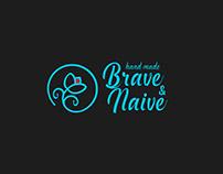 Brave & naive - handmade clothes. Logo.