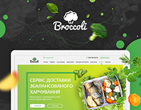 Web site for Healthy food delivery service.