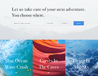 New Adventure trip Concept Web Design.