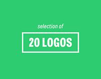 20 selected logos