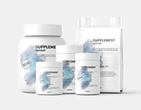 Supplement / Protein Jar Label Mock Up