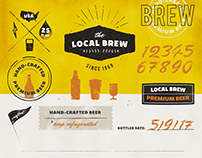 Vintage Logos & Badges: Local Brew