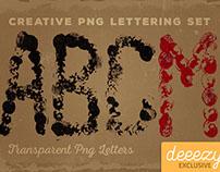 Free Grunge PNG Lettering Set