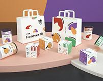 《Forever18 代早餐》五谷杂粮/即食麦片食品包装设计