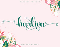 Free Harliva Calligraphy Font